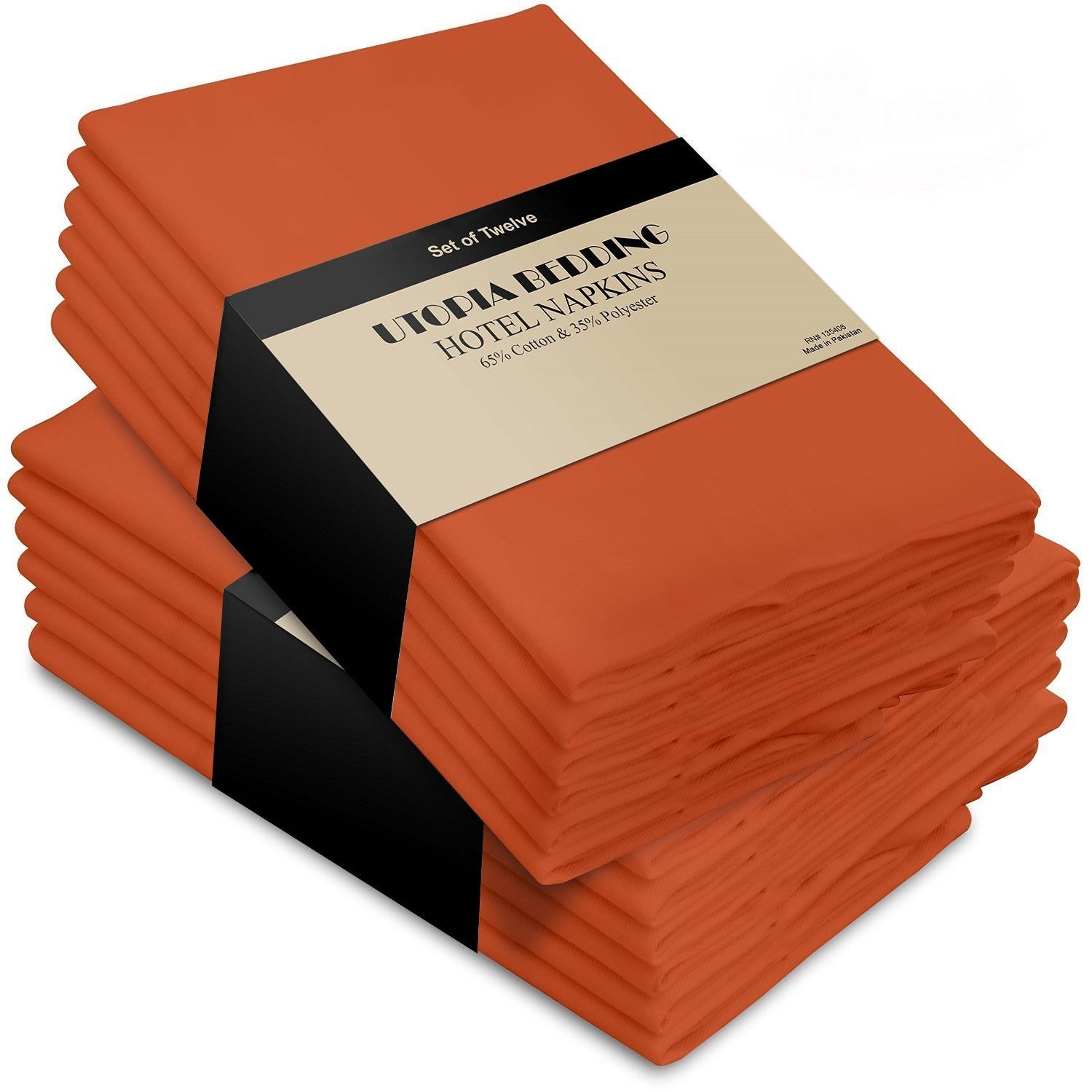 Cotton Dinner Napkins Orange