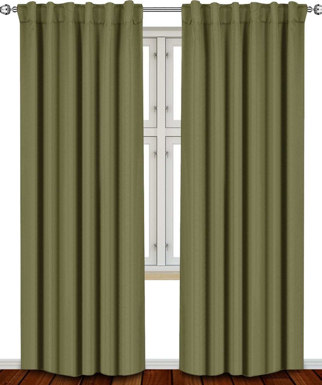 Blackout Room Darkening Curtains (2 Panel Set)