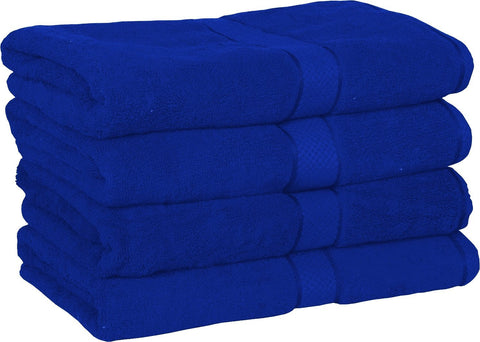 Premium Bath Towels (Royal Blue-4 Pack)