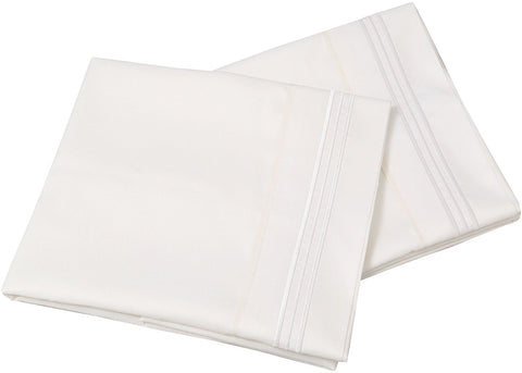 Hypoallergenic Brushed Cotton Pillowcases - White