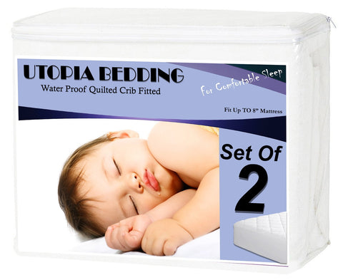 Waterproof-Crib-Mattress-Protector ( 2-Pack)