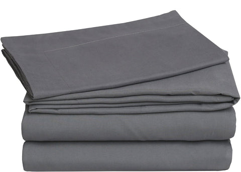 3 Piece Bed Sheet Set (Grey)