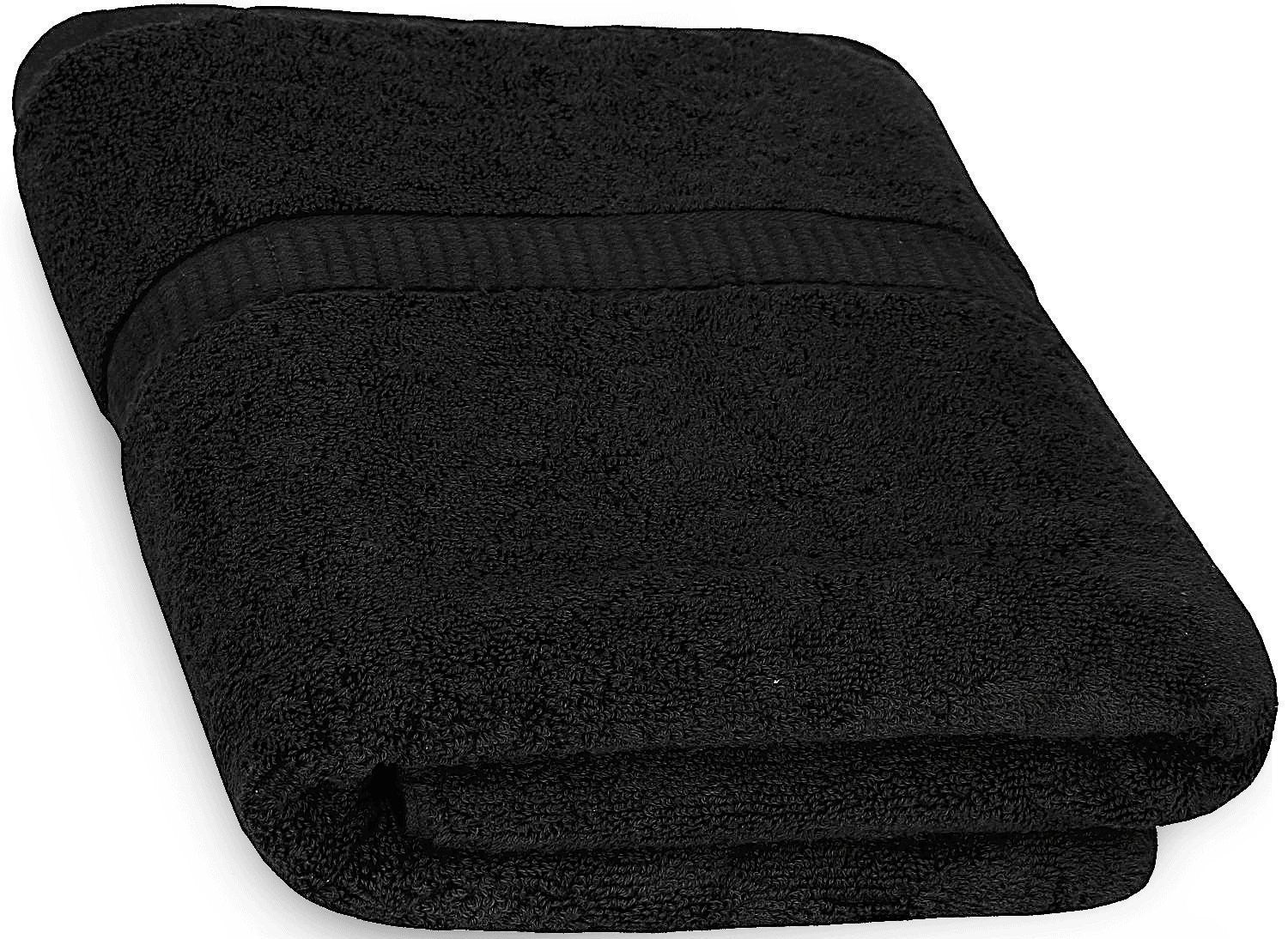 Cotton Luxury Bath Towel - Black