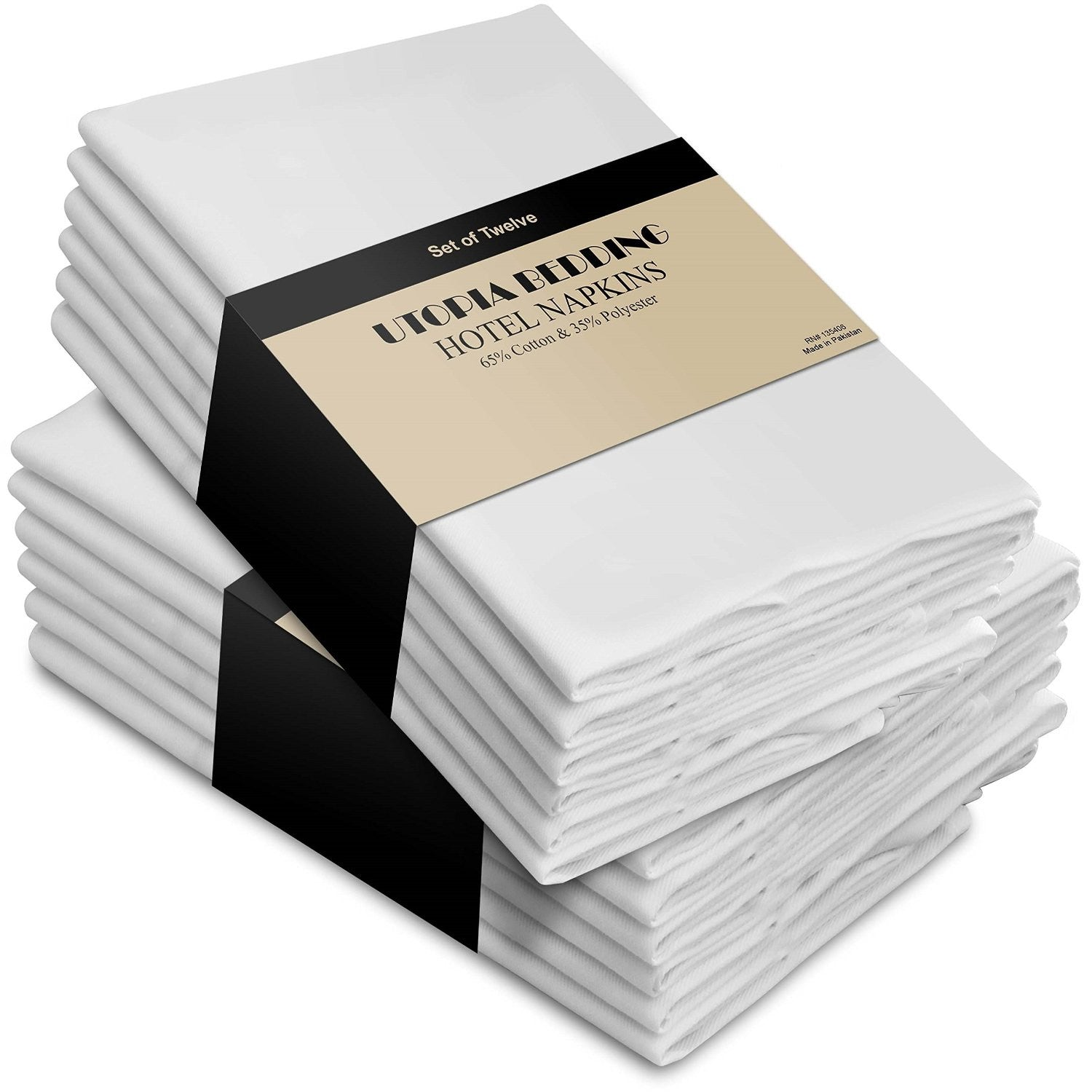 Cotton Dinner Napkins White