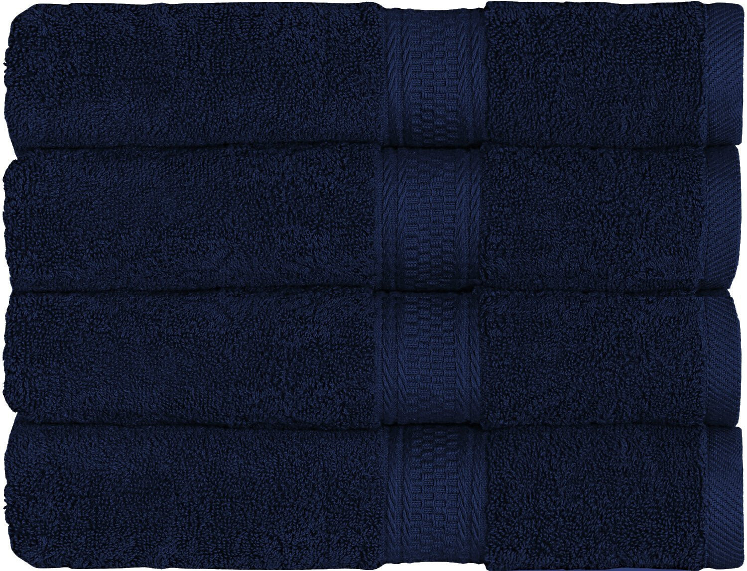 700 GSM Premium Bath Towels NAVY- 4 Pack