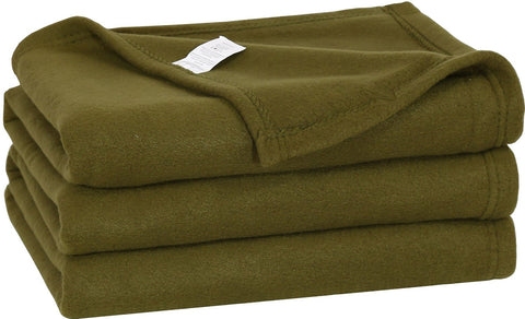 Polar Fleece Throw Blanket(Basil)
