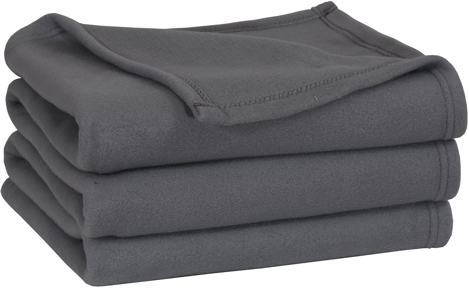 Polar Fleece Throw Blanket (Grey)