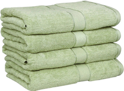Ringspun Cotton Bath Towels (Pack of 4)