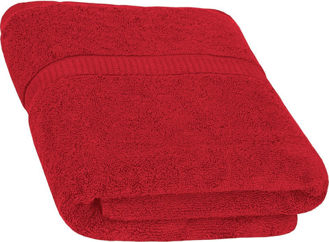 Cotton Luxury Bath Towel - Red