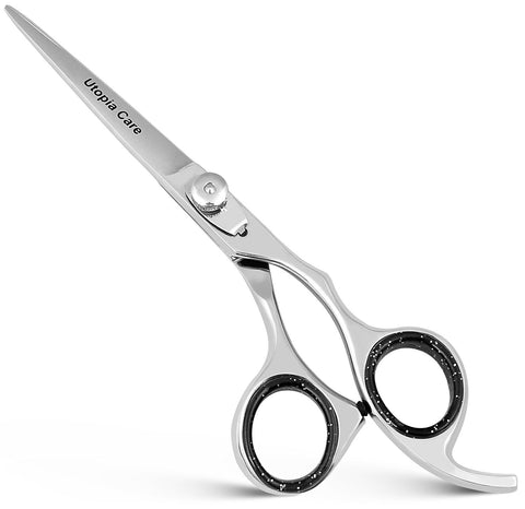 Hair Cutting Scissors Silver Knob