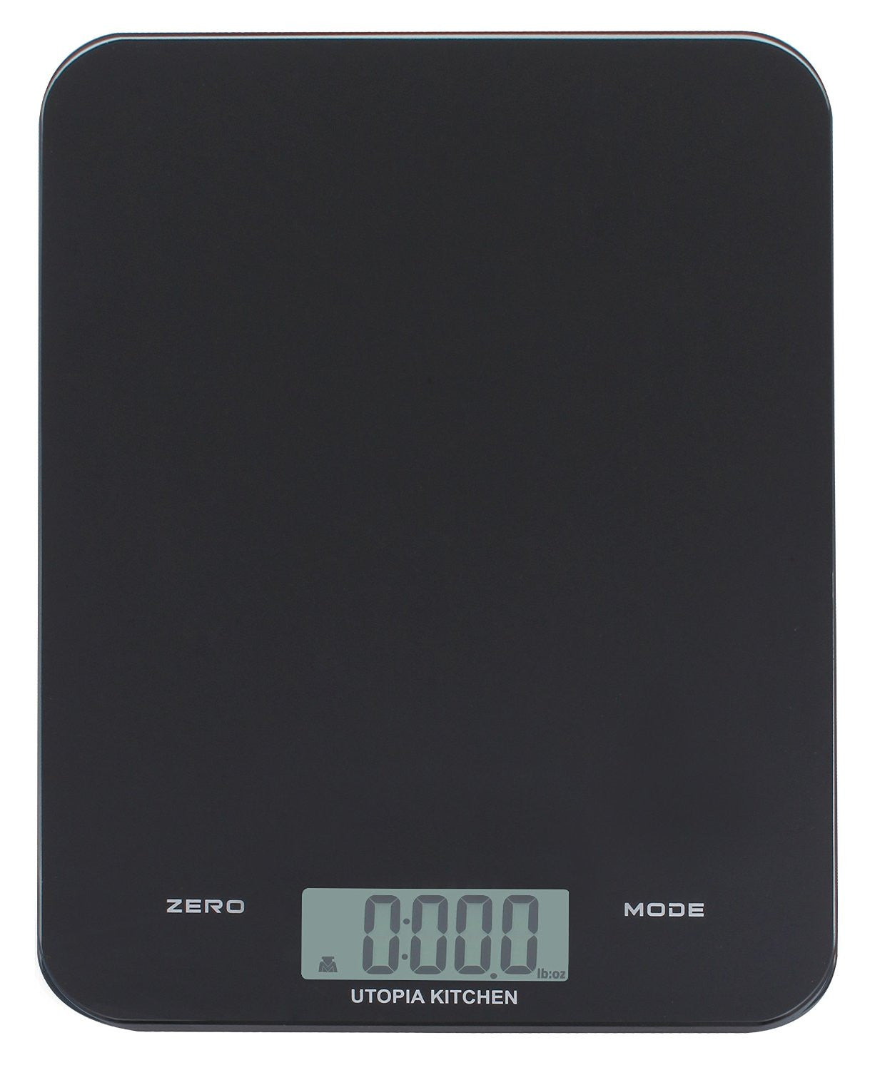 Digital Glass Kitchen Scale - Black