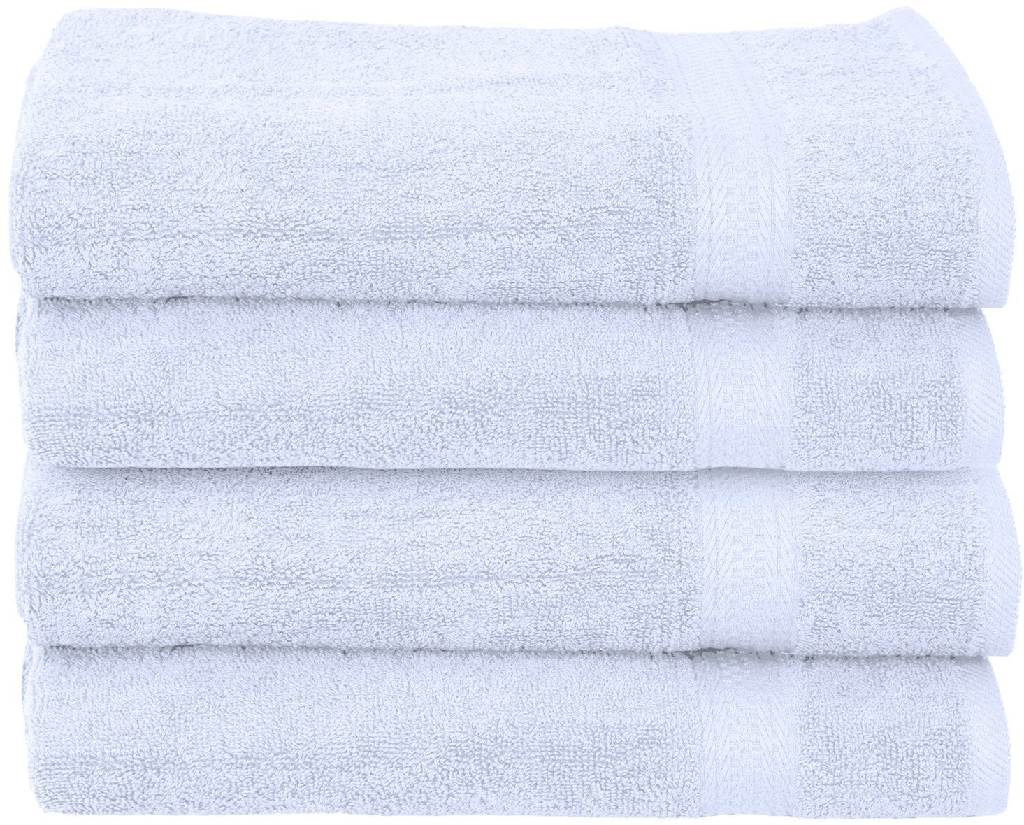 Ringspun Cotton Hand Towels - 16 by 28-Inch, White, Pack of 4