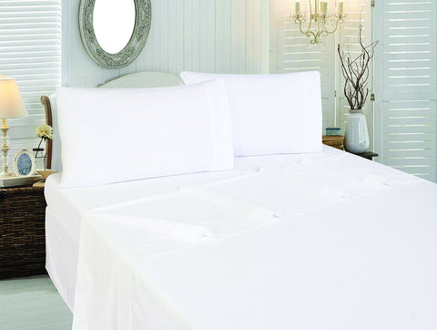 Cotton Sateen Flat Sheet (White)
