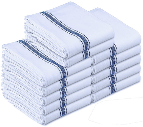 Pure Cotton Kitchen Towels - 12 Pack