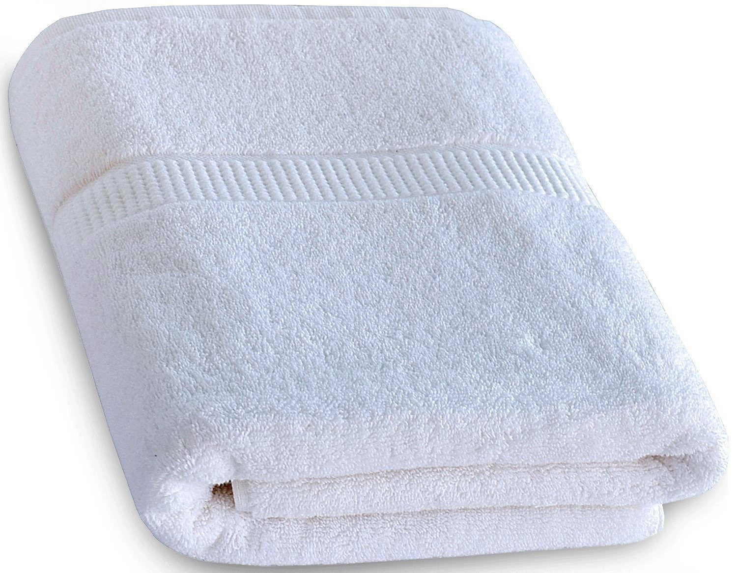 Cotton Luxury Bath Towel - White