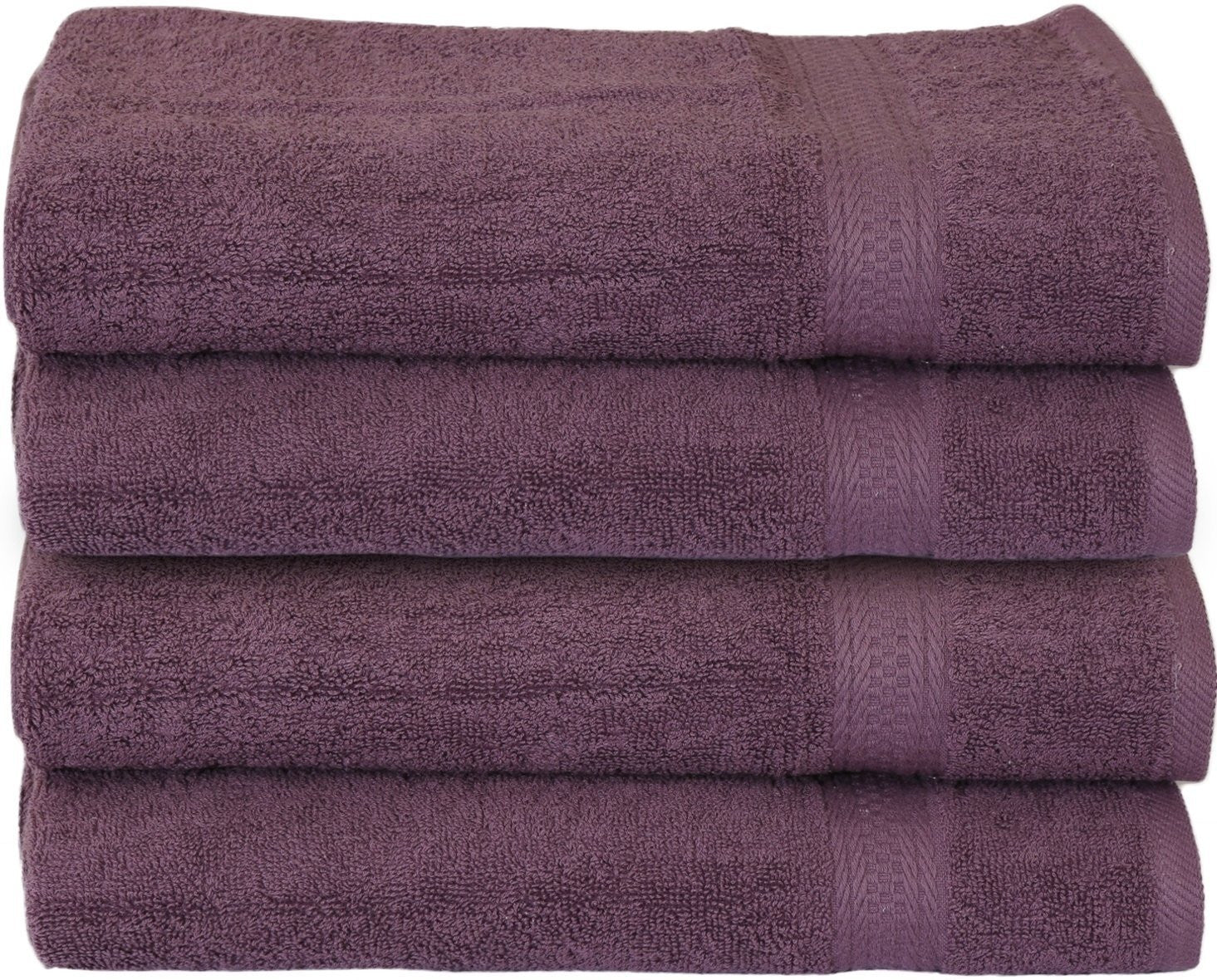 Luxury Cotton Hand Towels (Plum-4 Pack)