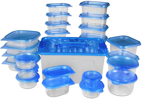 Food Storage Container (Blue, 54 pcs)