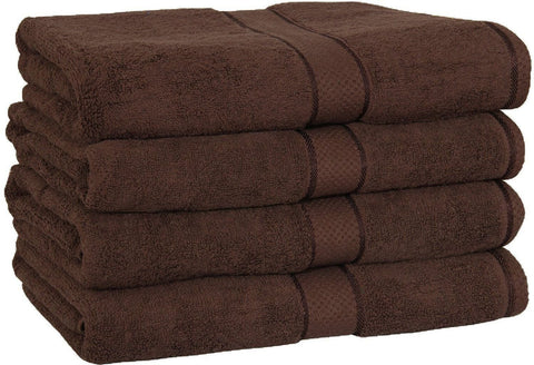 Premium Bath Towels (Dark Brown - 4 Pack)