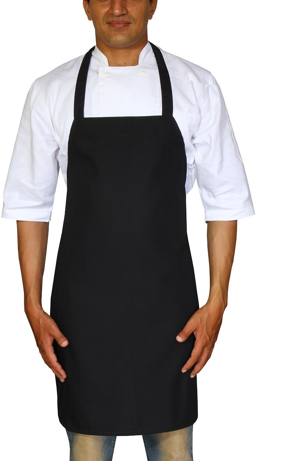 Professional Bib Apron (Black - 12 Pack)