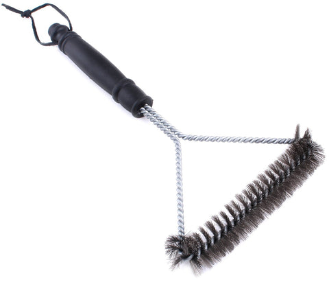 12 Inch BBQ Grill Brush - 3 Sided
