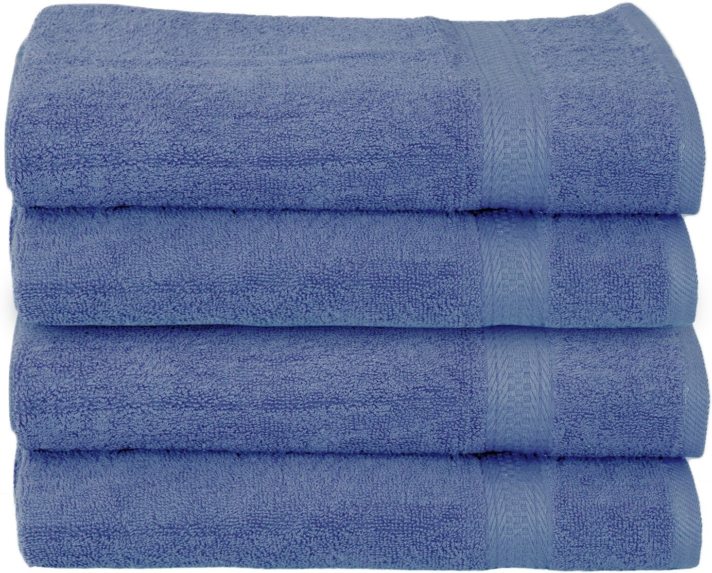 Luxury Hand Towels (Electric Blue-4 Pack)