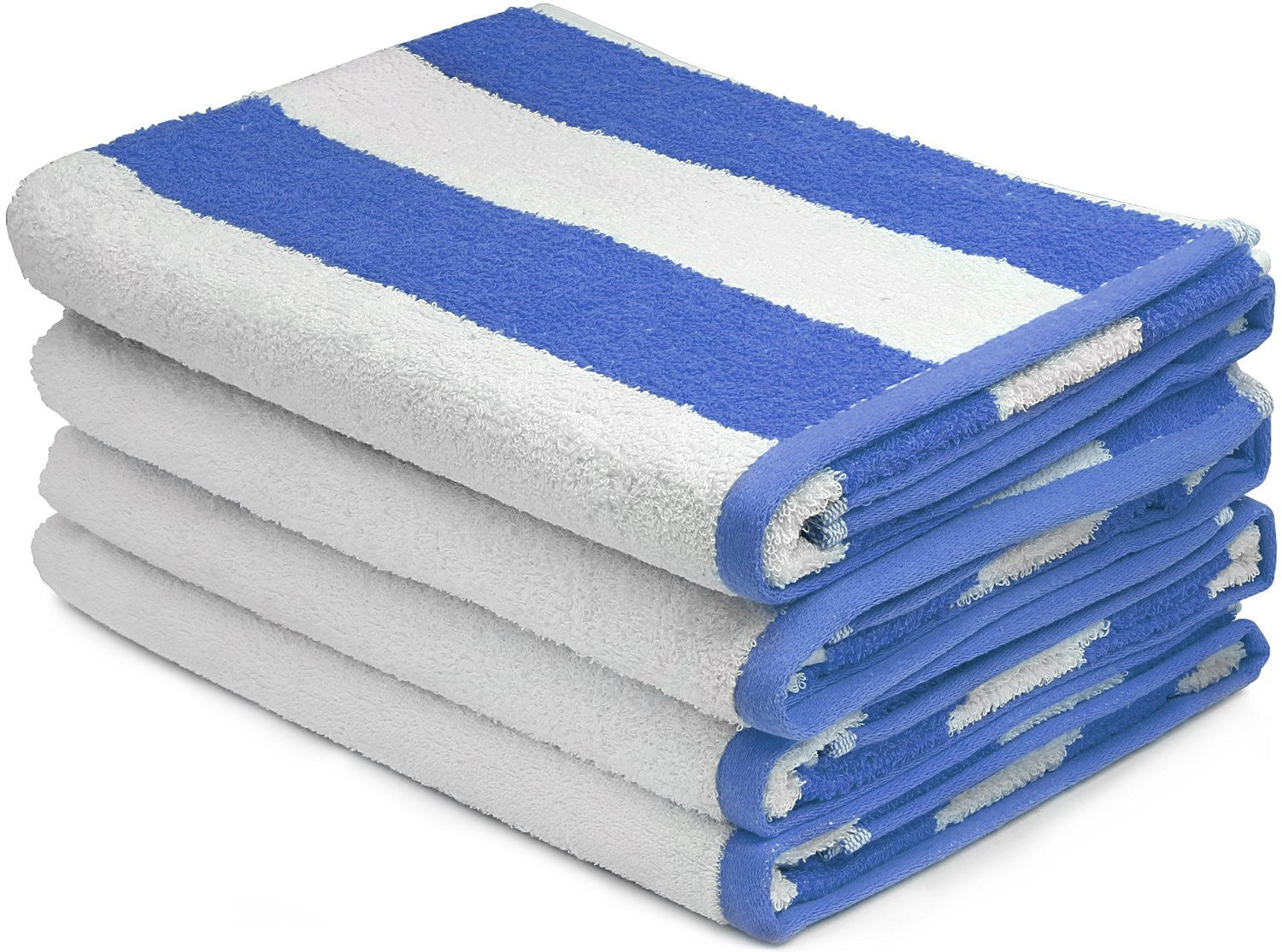 Beach Towel Cabana Stripe, Blue - 4 pack