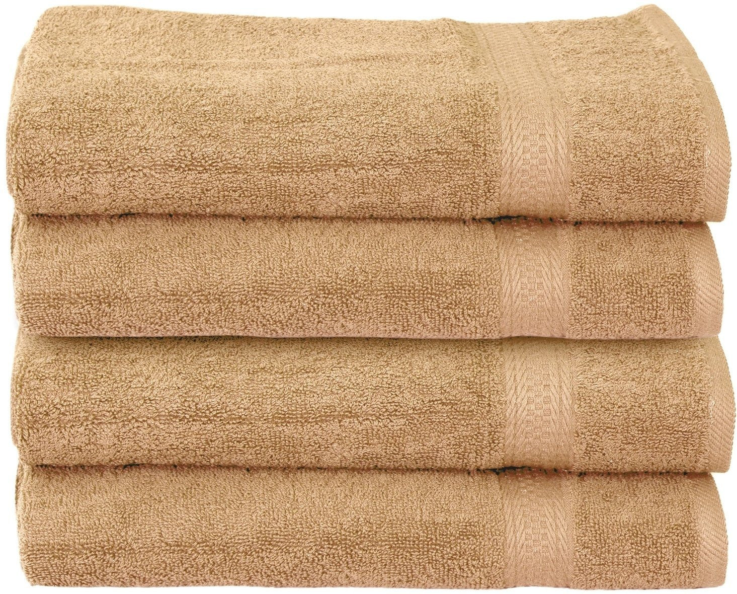 Luxury Cotton Hand Towels (Beige-4 Pack)