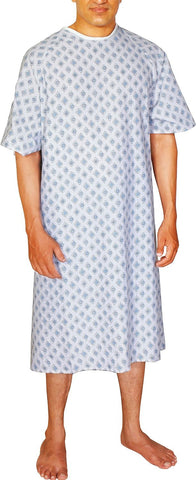 Patient Gown (1-PACK) - Blue Diamond