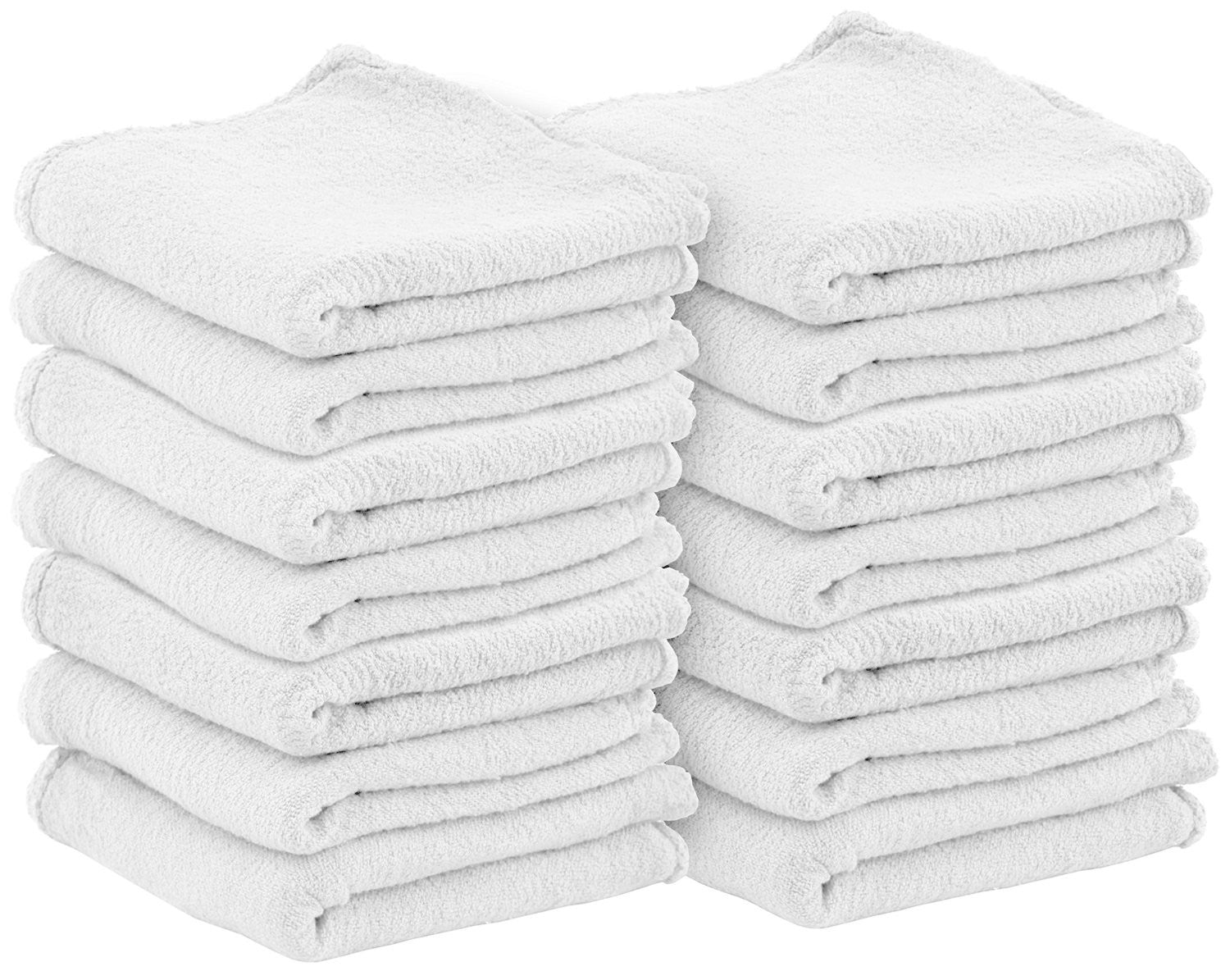 Auto Mechanic Shop Towels (White-100Pack)