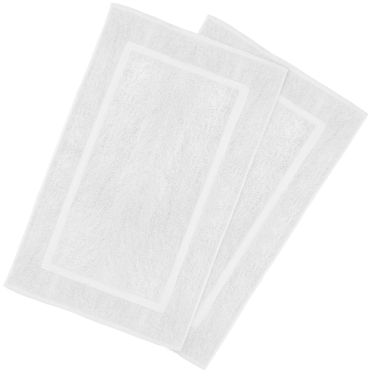 Ringspun Cotton Floor Mat, White, 2-Pack