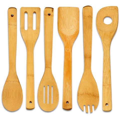Bamboo Cooking Utensil Set (6-Pieces)