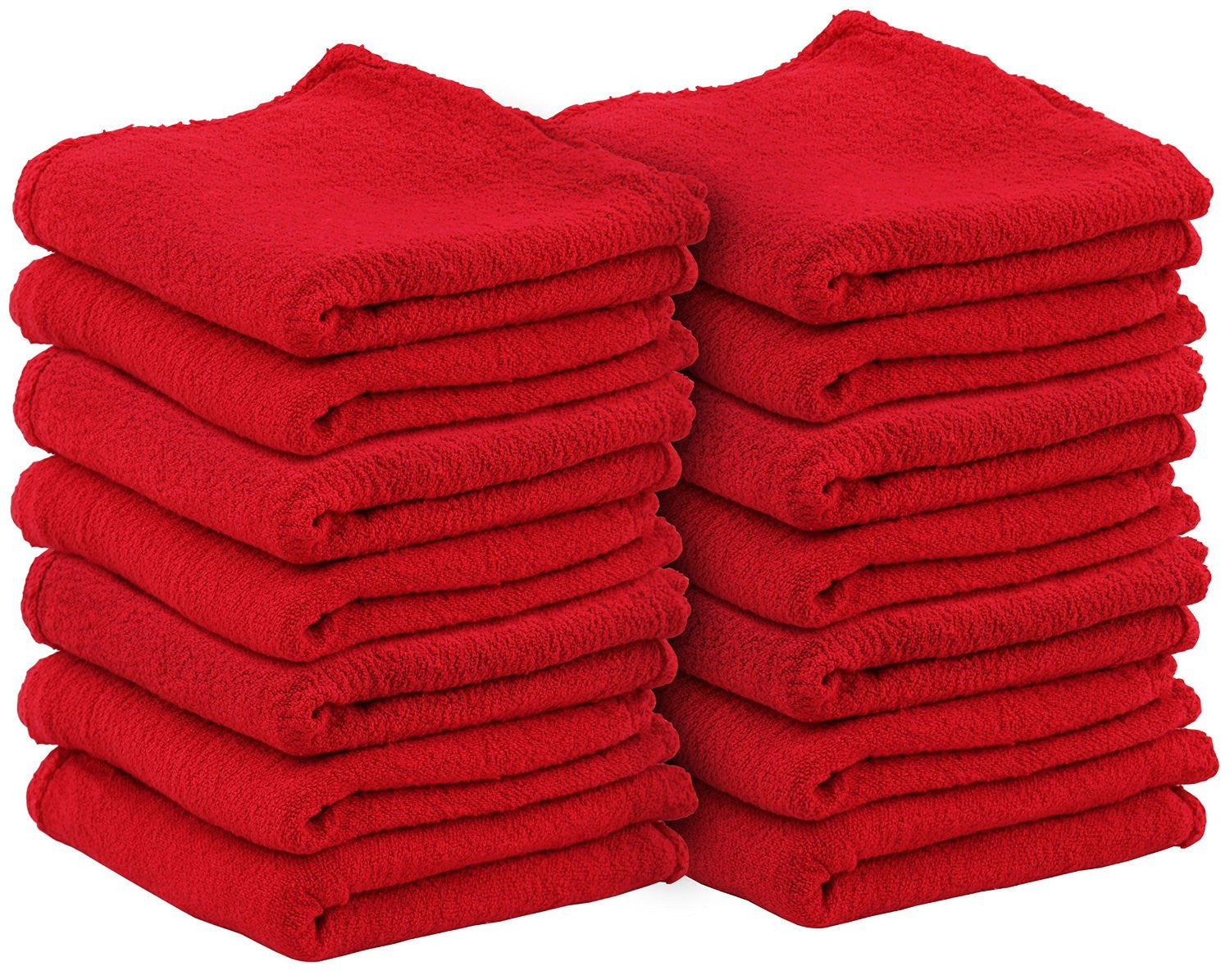 Auto Mechanic Shop Towels (Red-25 Pack)