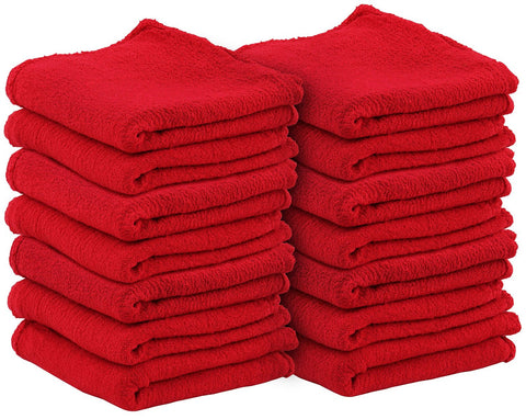 Auto Mechanic Shop Towels (Red-100Pack)