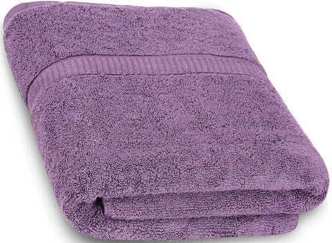 Luxury Cotton Bath Sheet - Plum