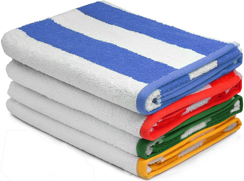 Beach Towel Cabana Stripe Variety-4 pack