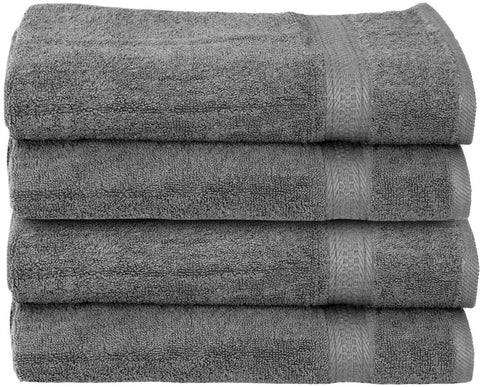 Luxury Cotton Hand Towels (Grey-4 Pack)