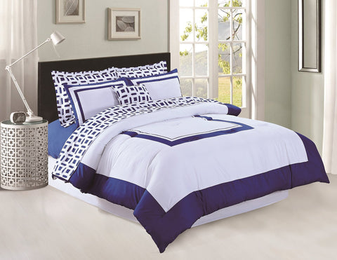 Bed in a Bag - 8PC Navy Set