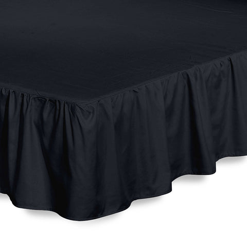 Ruffle Bed Skirt (Black)