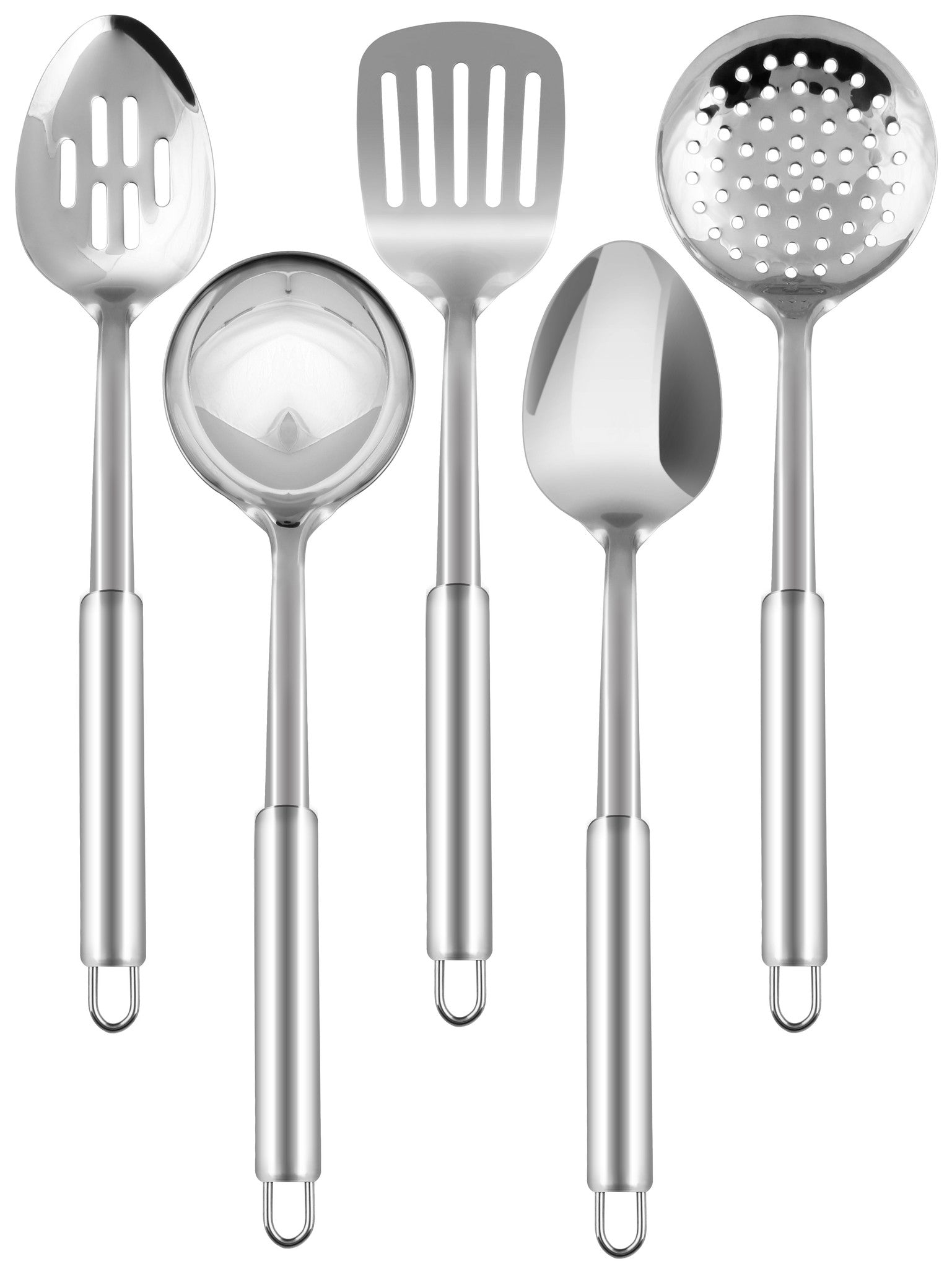 Stainless Steel 5 Pcs Cooking Spoon Set