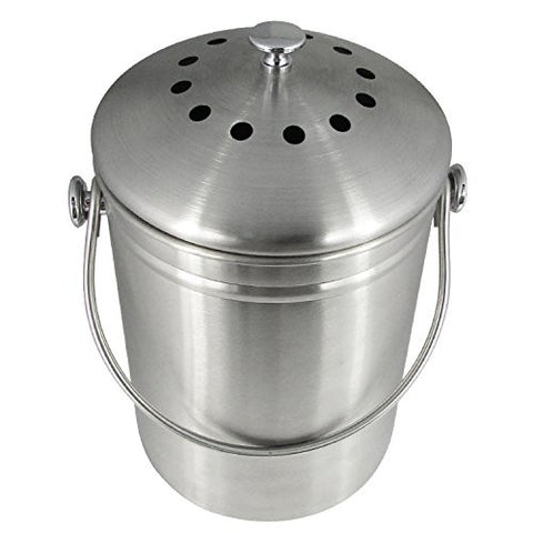 Stainless Steel Compost Bin, 1.3 Gallon