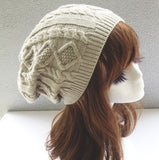 Twist Pattern Knitted Beanie