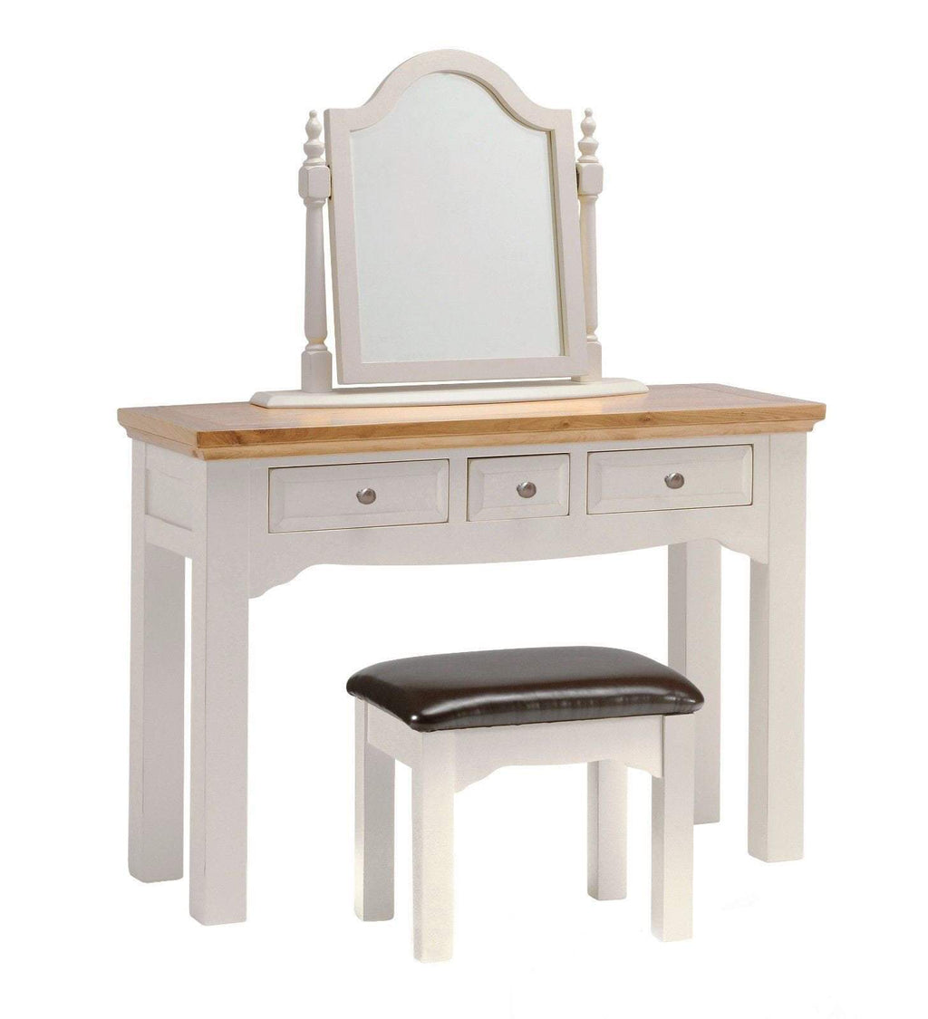 Barlestone Grey Painted Oak Dressing Table - Oak Village