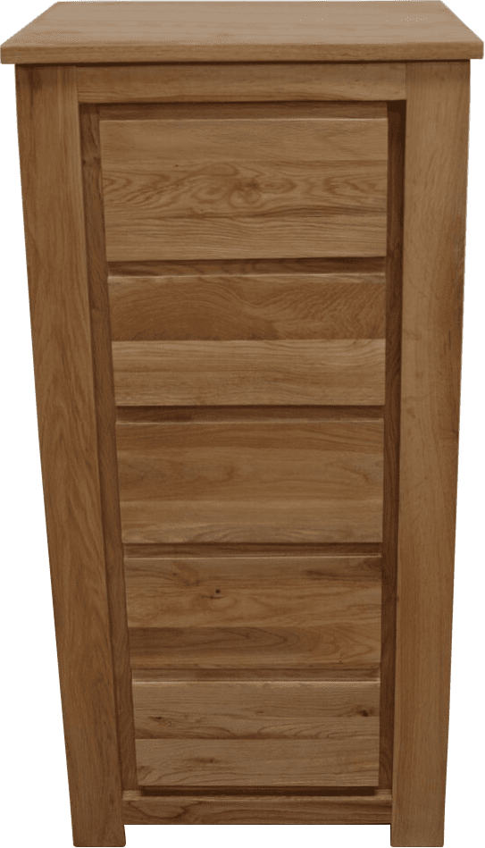 Bloomsbury 5 Drawer Narrow Chest - Oak Village