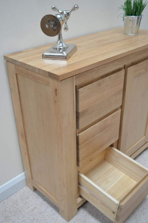 Bloomsbury Combination Chest With Small Cupboard - Oak Village