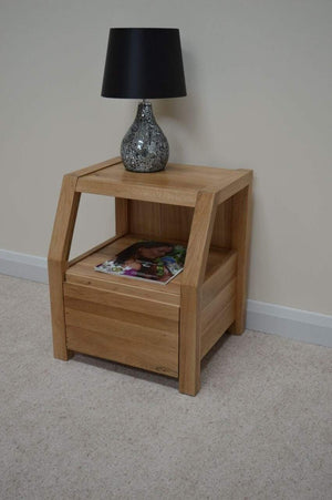 Bloomsbury Oak Bedside Table - Oak Village