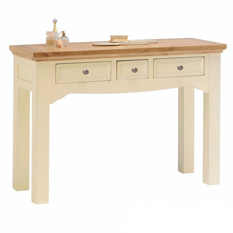 Dorchester Cream Painted Oak Dressing Table - Oak Village