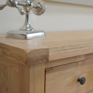 Dorset Oak 5 Drawer Chest Of Drawers (2 Over 3) - Oak Village
