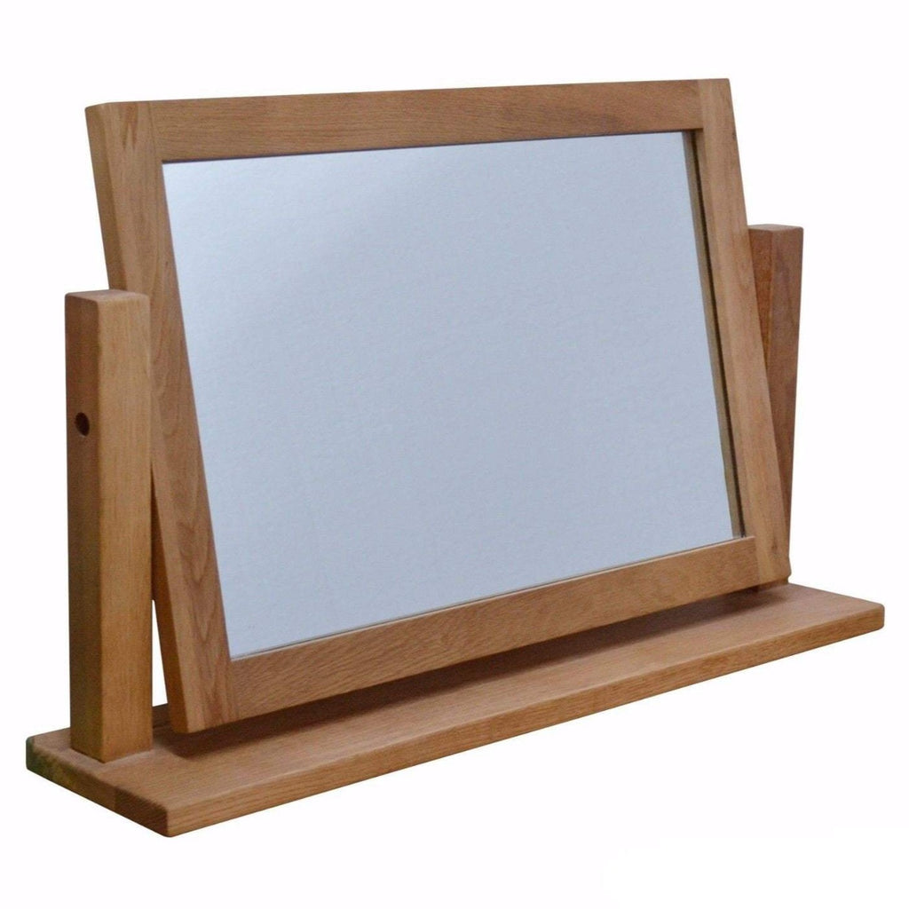 Dorset Oak Table Top Swing Mirror - Oak Village