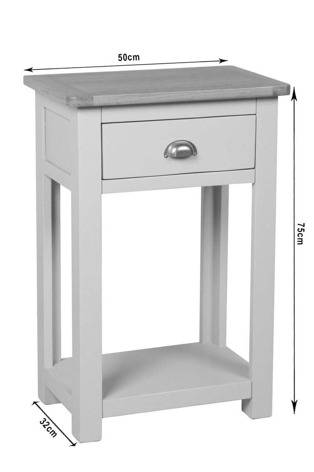 Farrows Grey Painted Small Console Table - Oak Village