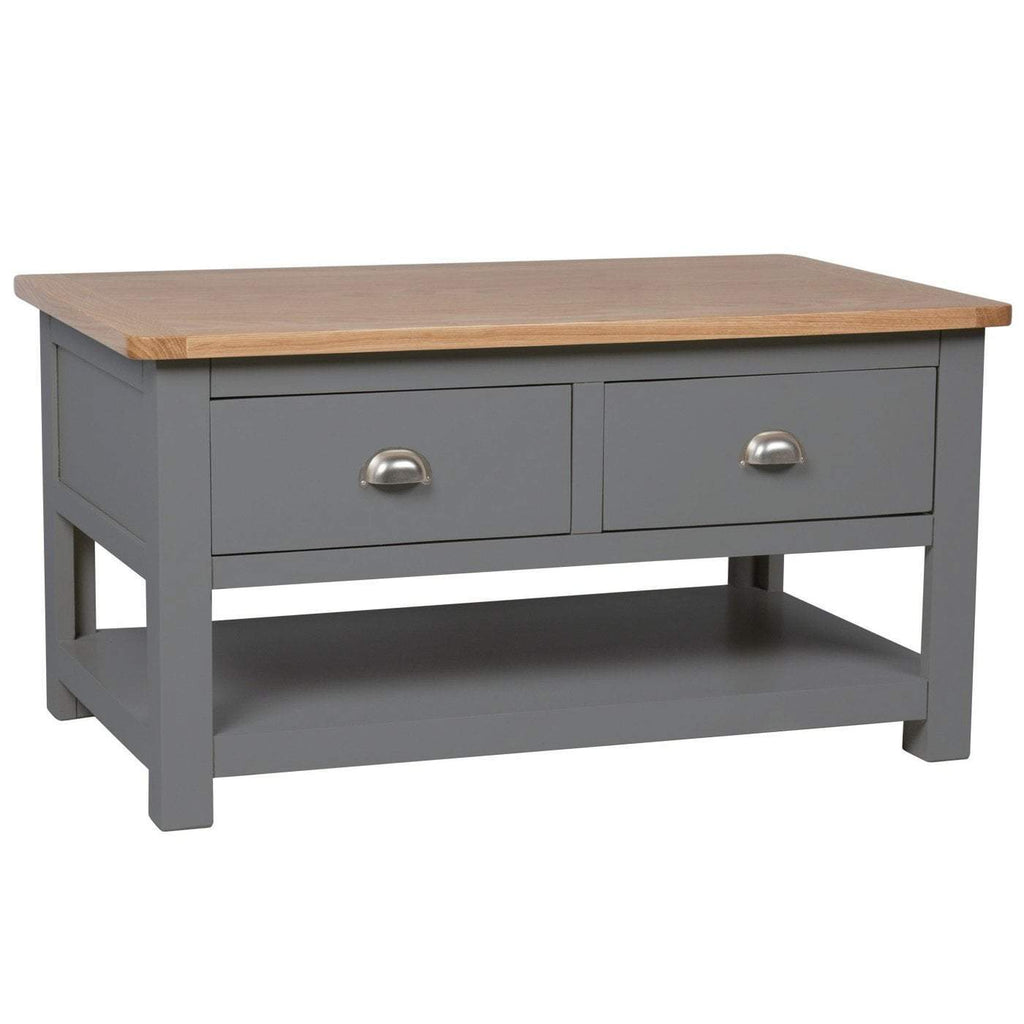 Farrows Grey Painted Storage Coffee - Oak Village